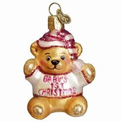 Girl Baby's 1st Christmas Ornament - limited quantities in stock!