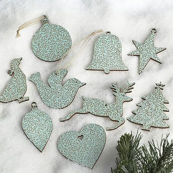 Vintage Duck Egg Blue Christmas And Wedding Gift Tags - decoracion navidea estilo vintage