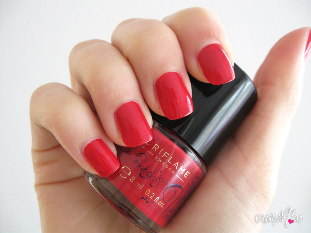 Oriflame - Pure Colour Floral Nail Polish - Cherry Red | Oriflame ...
