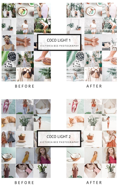 10 Mobile Lightroom Presets Coco Light, Lightroom Desktop