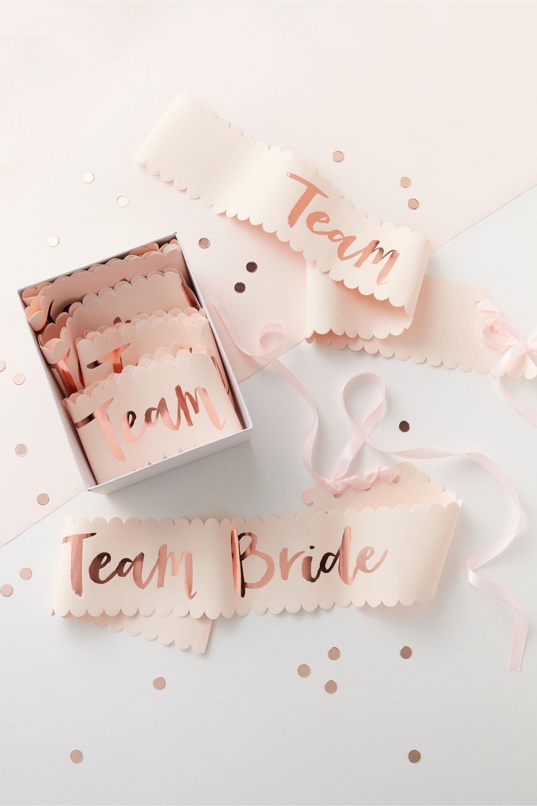 6 Pack Team Bride Sashes Pink Bride To Be Sash Team Bride Hens Night Invitations