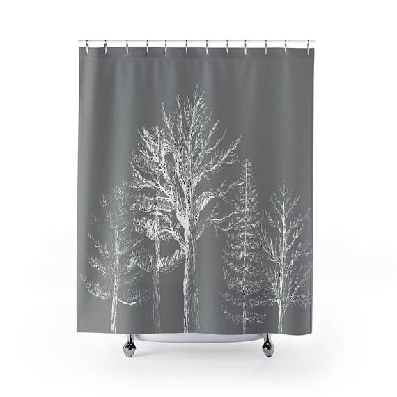 Grey Tree Shower Curtain Grey Shower Curtain Gray Shower Tree