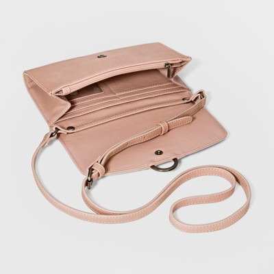Ring Wallet On A String Clutch - Universal Thread Blush e283aa241b25c
