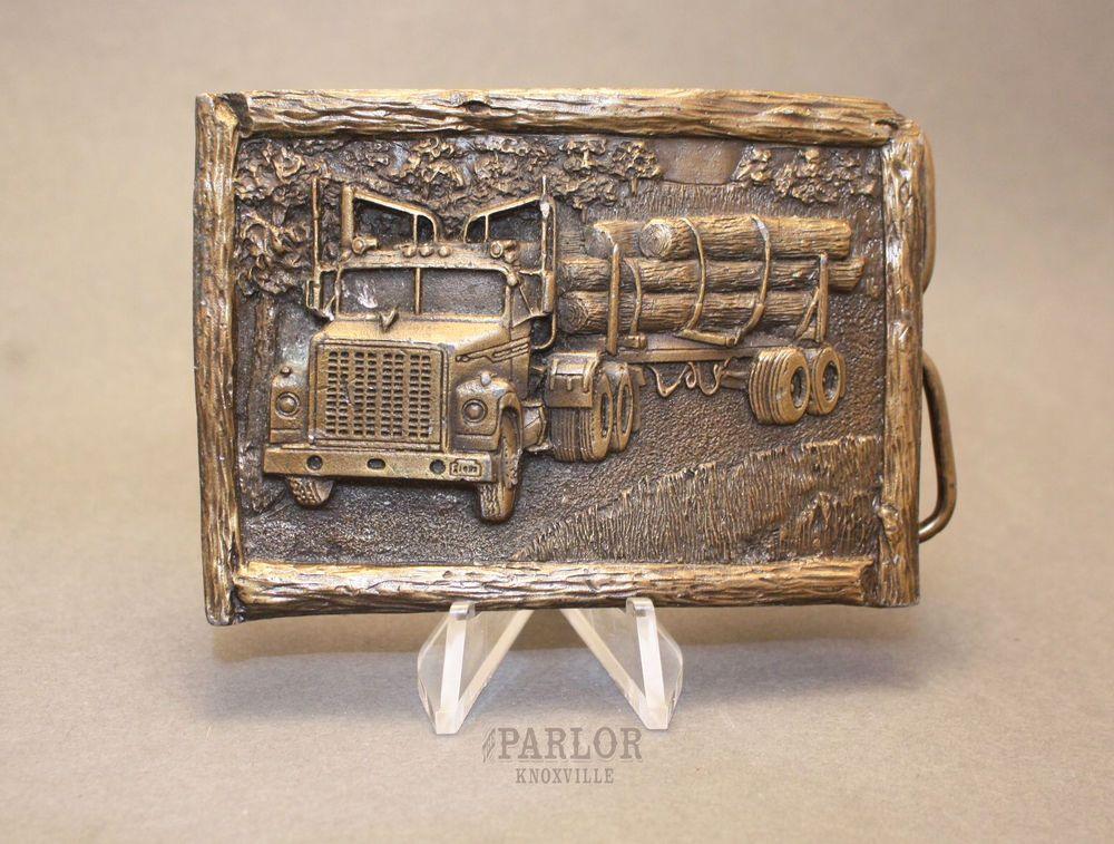 Logger vintage belt buckle.1989