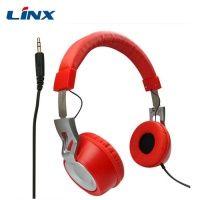 LX-228 Metallic headband nosie cancellation wired stereo headphone