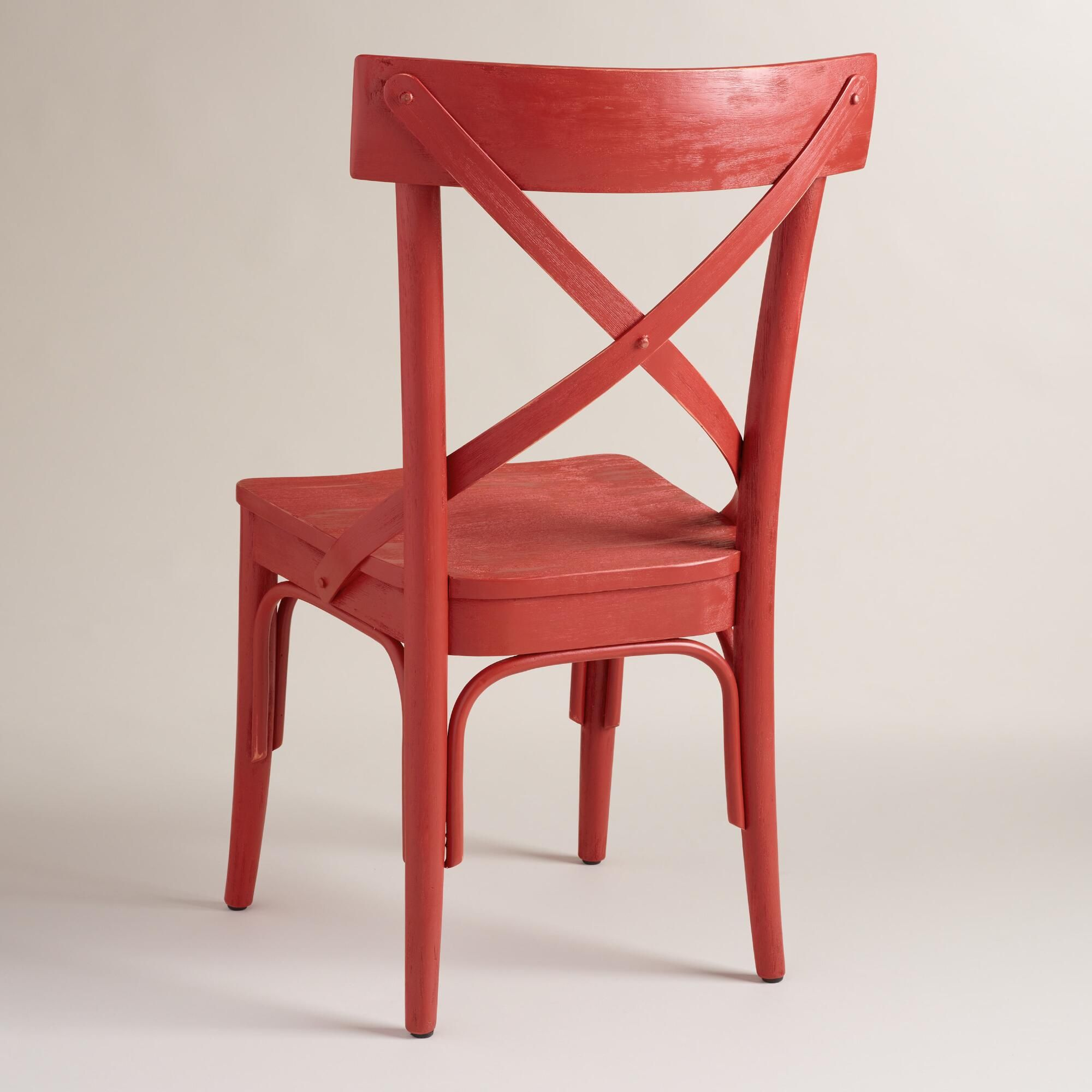 Red French Bistro Dining Chairs Set Of 2 Dining Chairs Chair