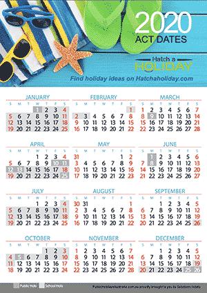 Act 2020 School Holiday Calendar In 2020 School Holiday Calendar Holiday Calendar School Holidays