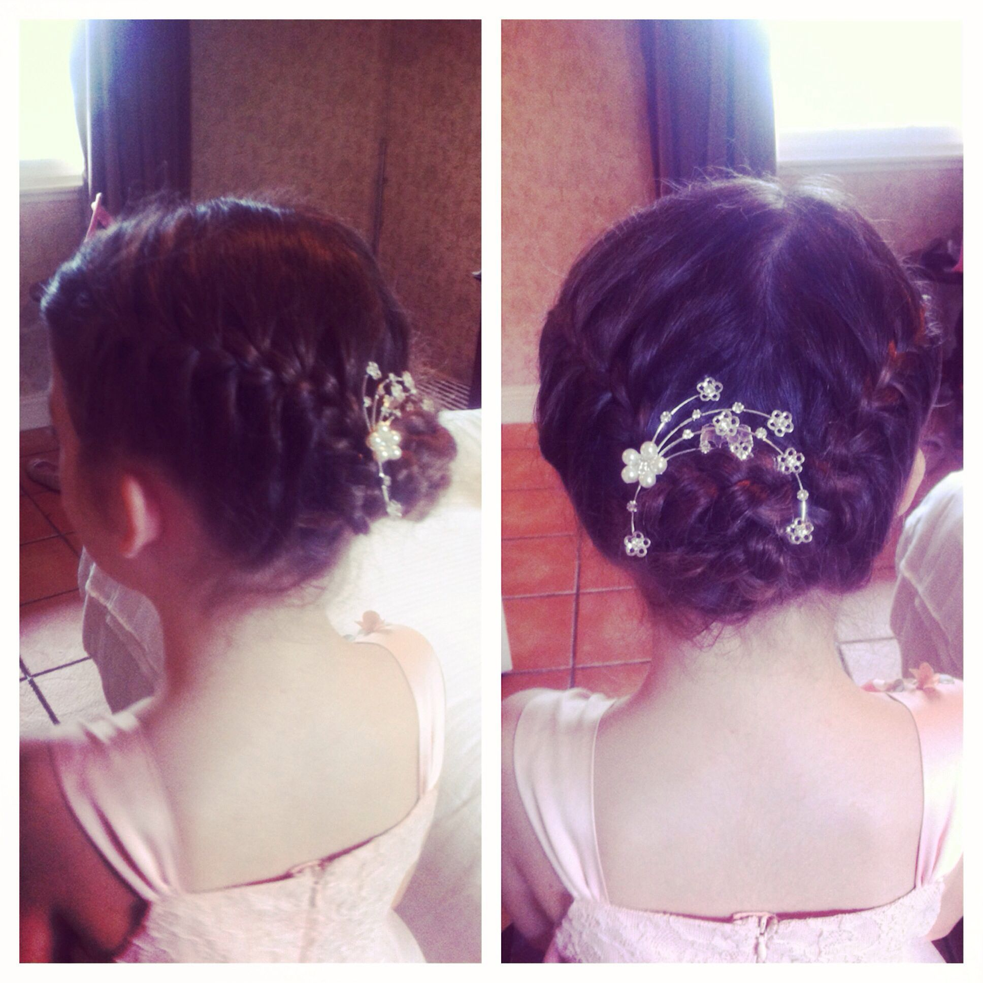 Flowergirls braided upstyle