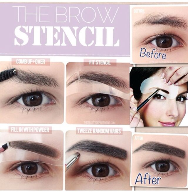 How To Use Brow Stencil Make Up 101 Pinterest Brows Makeup