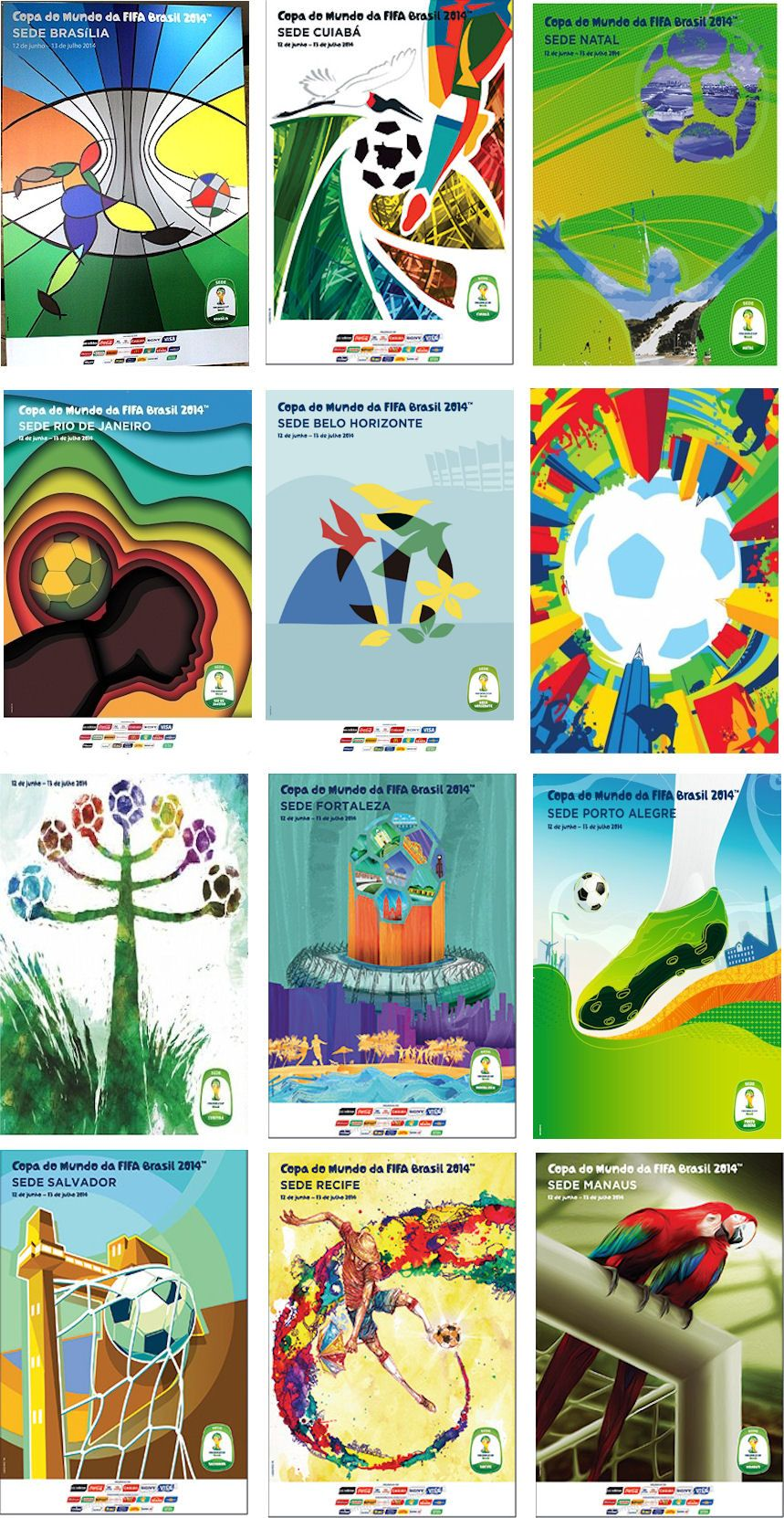World Cup Barzil Affiches Des Villes Hotes World Cup Fifa World Cup Logo