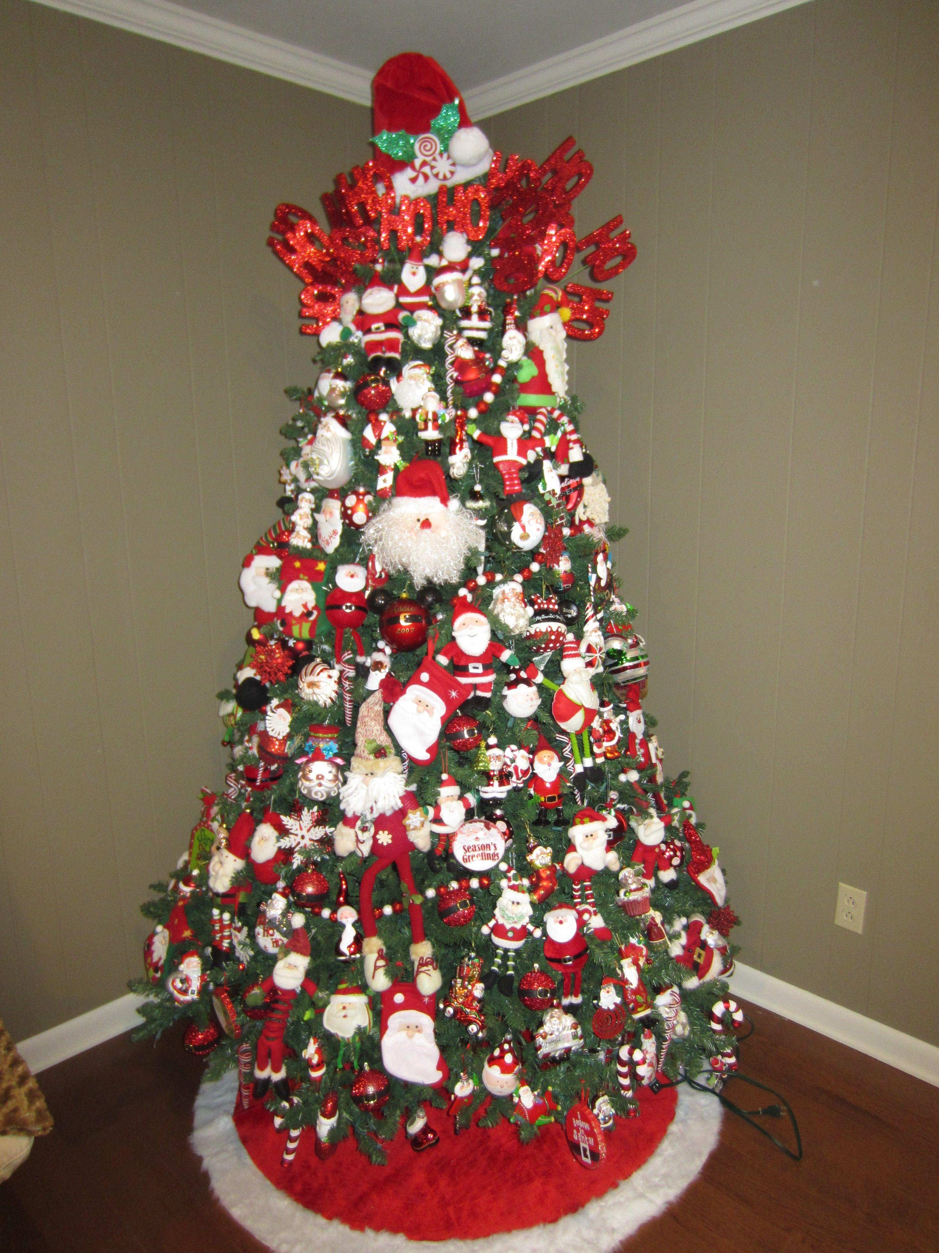 Santa Christmas Tree Santa Claus Christmas Tree Small Christmas
