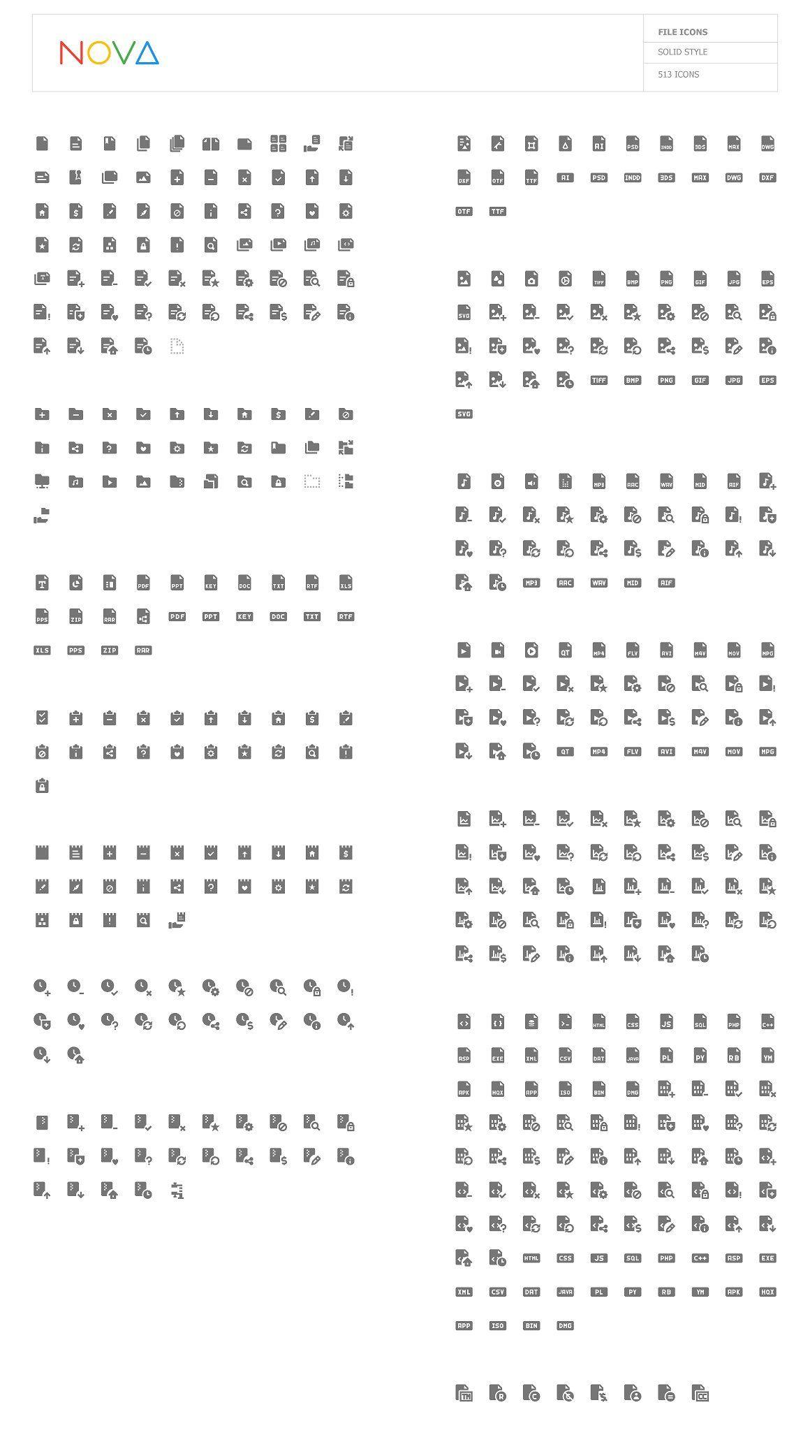 4000 Material Design Icons - NOVA #readability#clarity#small