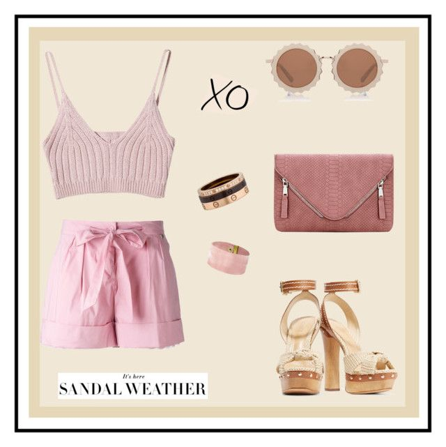 """""""Who's That Girl"""" by nataliemasnina ❤ liked on Polyvore featuring Twin-Set, Schutz, House of Holland, Cartier and xO Design"""
