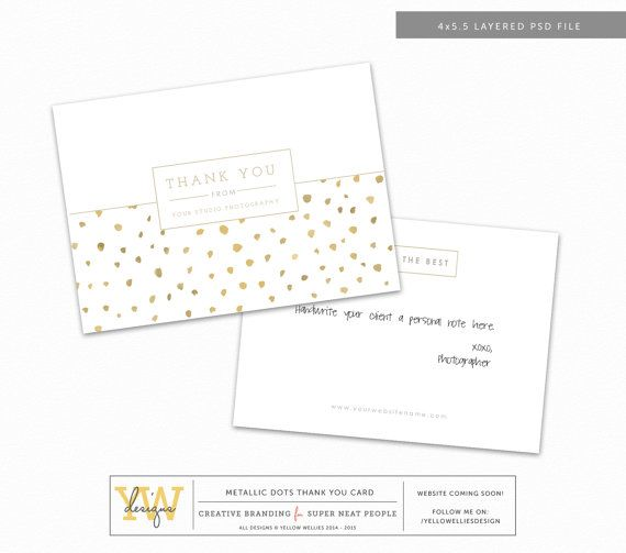 Thank You Card Template 4 X 5 5 Psd Template Whcc Millers Photography Marketing Instant Download Tyc002 Thank You Card Template Thank You Cards Cards