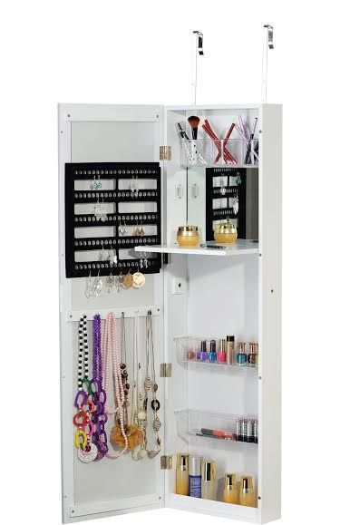 Platinum Jewelry Armiore Makeup Cabinet Cosmetic Organizer with