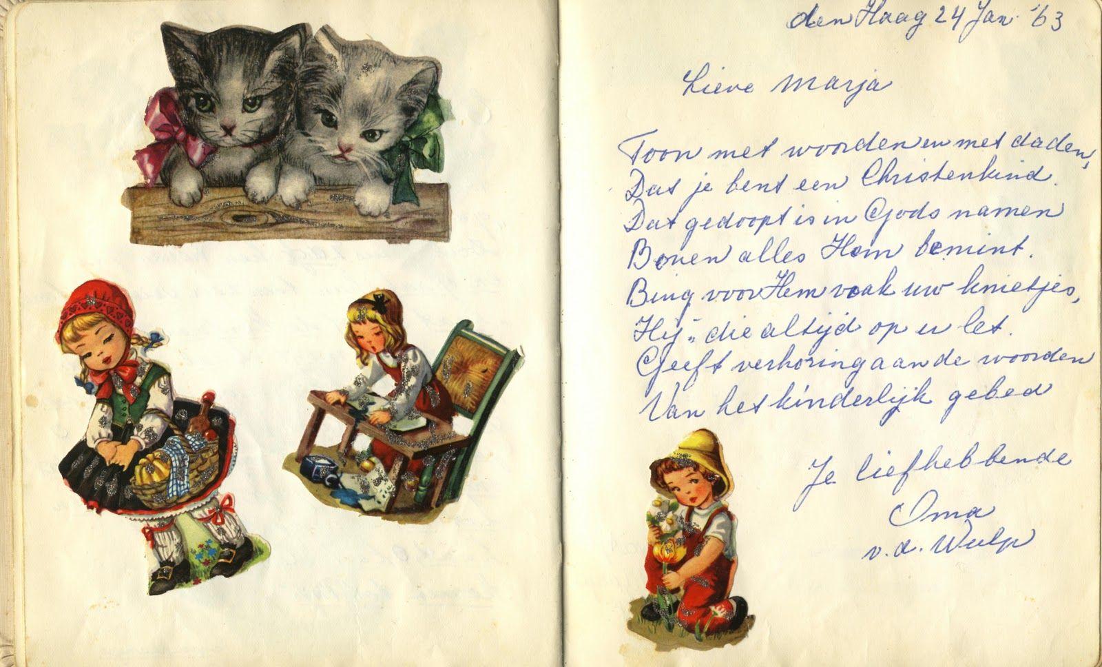 Poesieversje Nostalgia Growing Up Cards