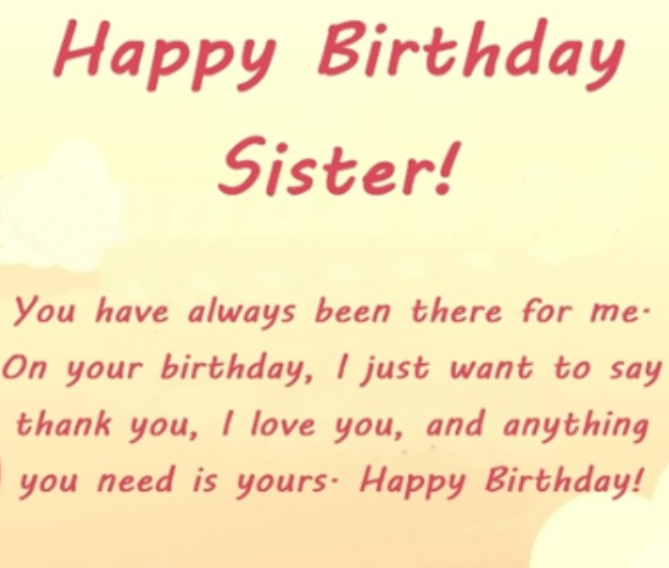Emotional Birthday Wishes For Sister With Images Wishes For