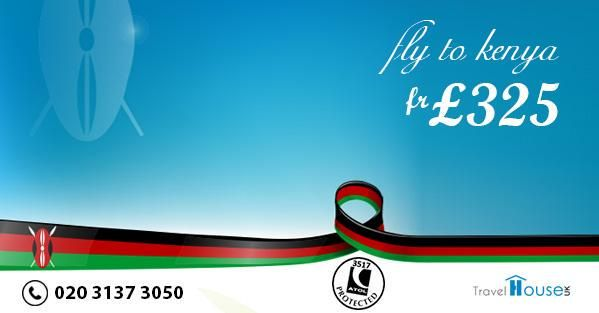 """""""#Kenya Flights fr £ 325 from the #UK Dial 020 3137 3050 for bookings or Visit  http://t.co/ihKxnXB6HU #Travel"""""""