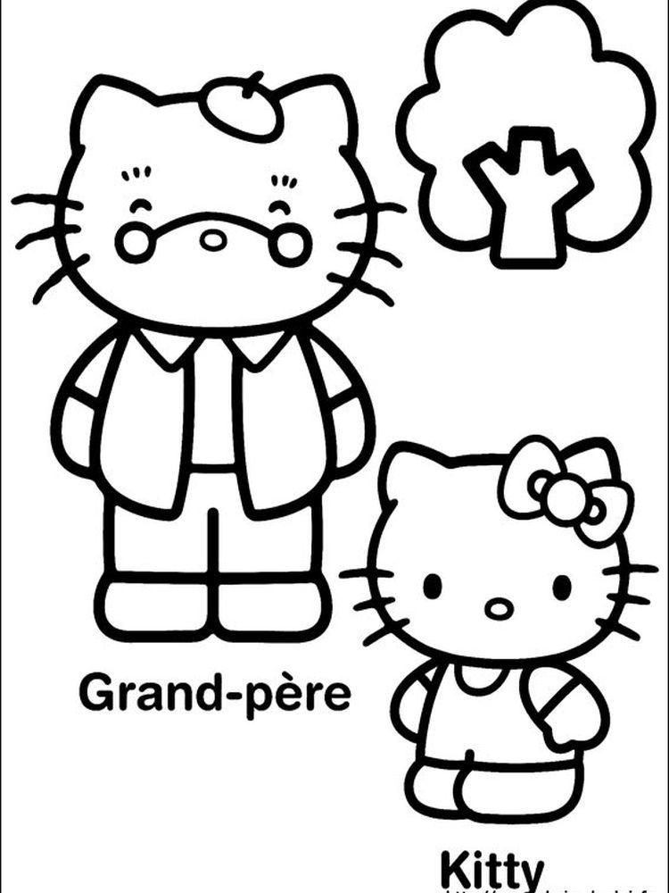 Crayola Hello Kitty Coloring Pages When We First Heard Hello Kitty The First One That Occurred In Our Minds Was A Cute Cat Character Buku Mewarnai Warna Buku