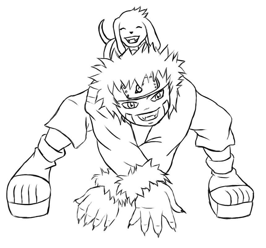 Naruto Chibi Kiba Lines By Kimberly Castello On Deviantart Com