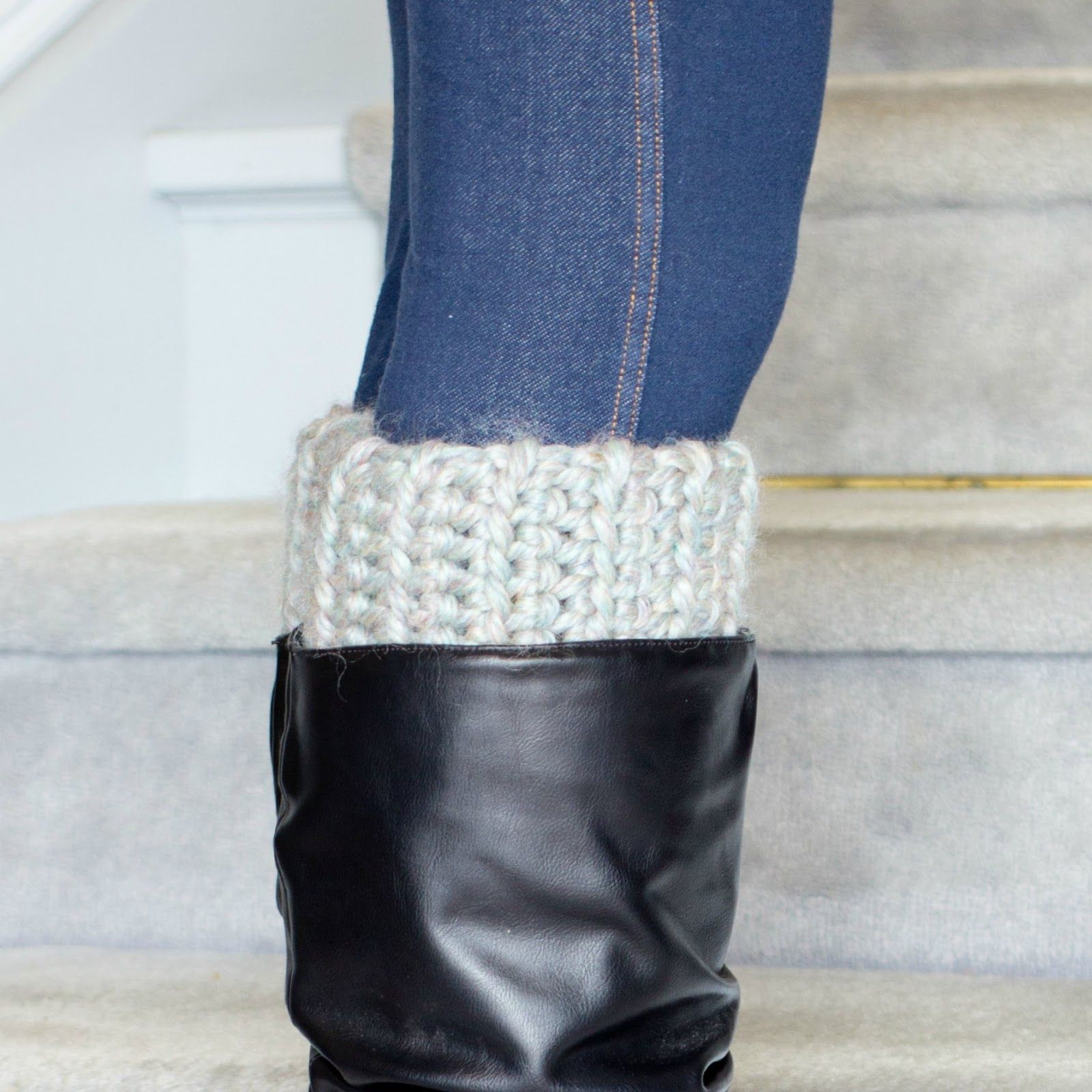 Basic Chunky Boot Cuffs Crochet Pattern | Hopeful honey, Honey and ...