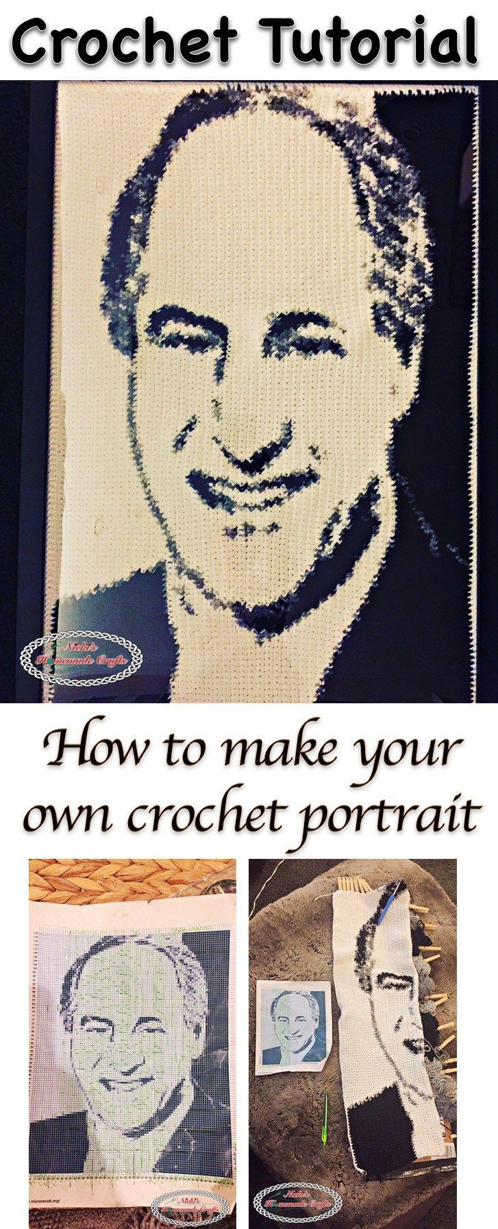 How to make a crochet graphgan or crochet portrait - crochet ...