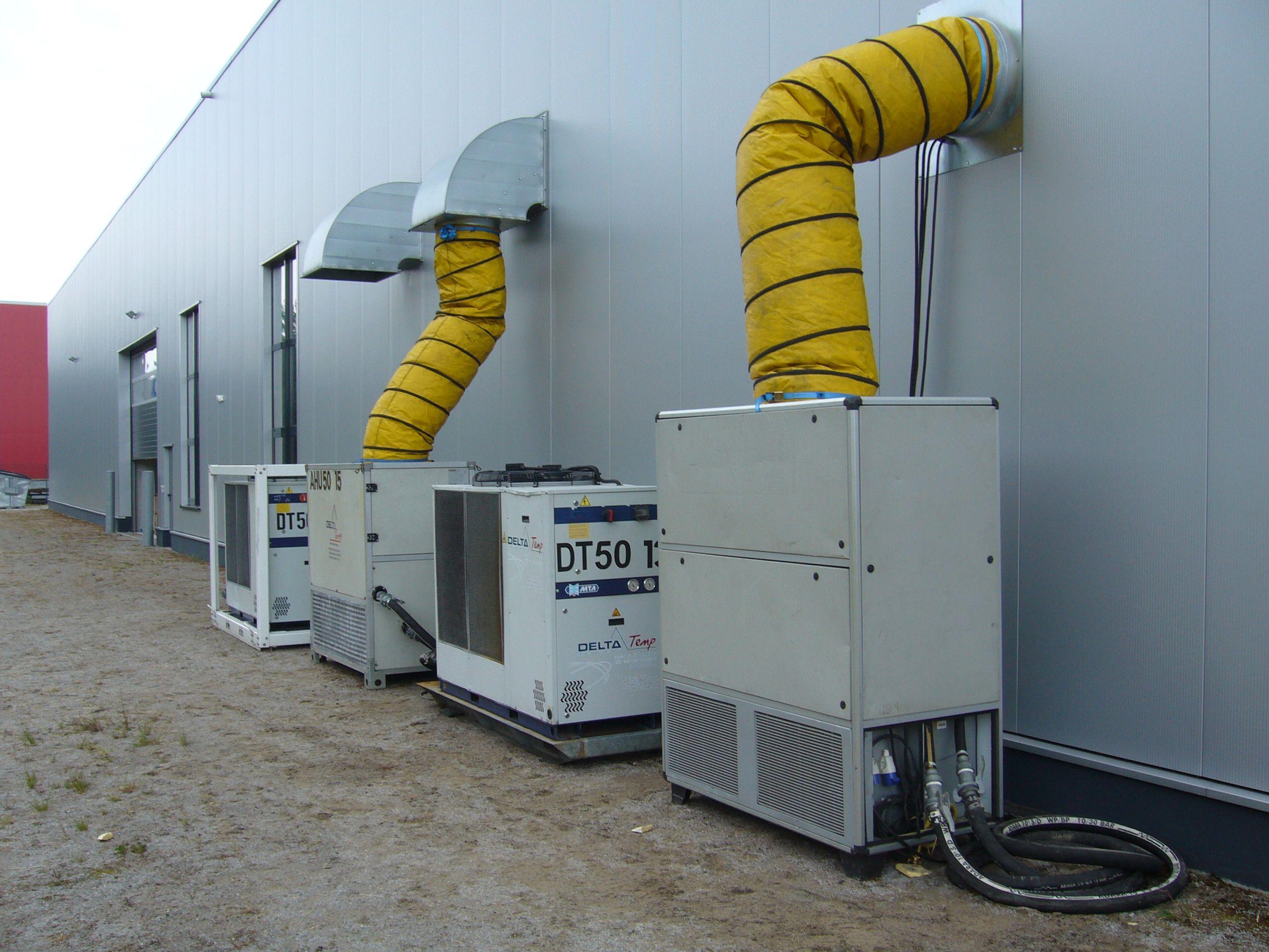 Klimatisierung mieten für Produktionshalle