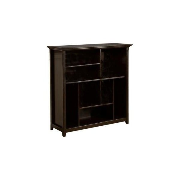 Simpli Home Amherst Crazy Cube Dark Brown Bookshelf 370 Liked On Polyvore Featuring