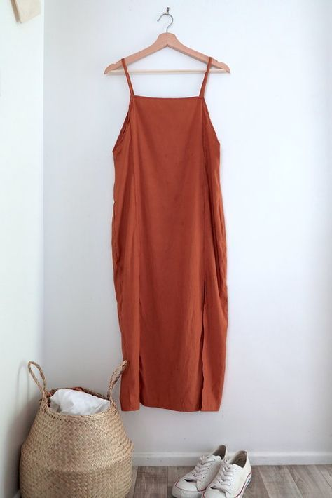 DIY: Slip Dress with Leg Splits #diytutorial
