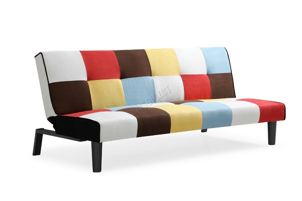Details about WestWood Patchwork Rainbow Sofa Bed Click