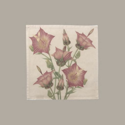 Dinner Napkin - Vintage Flowers Cloth napkins – set of 4. Beautiful cotton napkins decorated with a vintage botanical print of beautiful pink flowers.   http://vintagehomedecor.blogspot.ca/