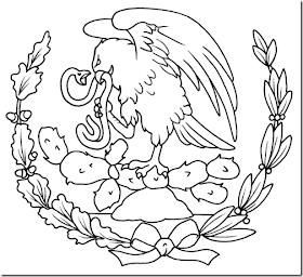 Docenteszona24 Dibujos Para Colorear Escudo De Mexico Bandera De Mexico Dibujo Escudo Nacional De Mexico
