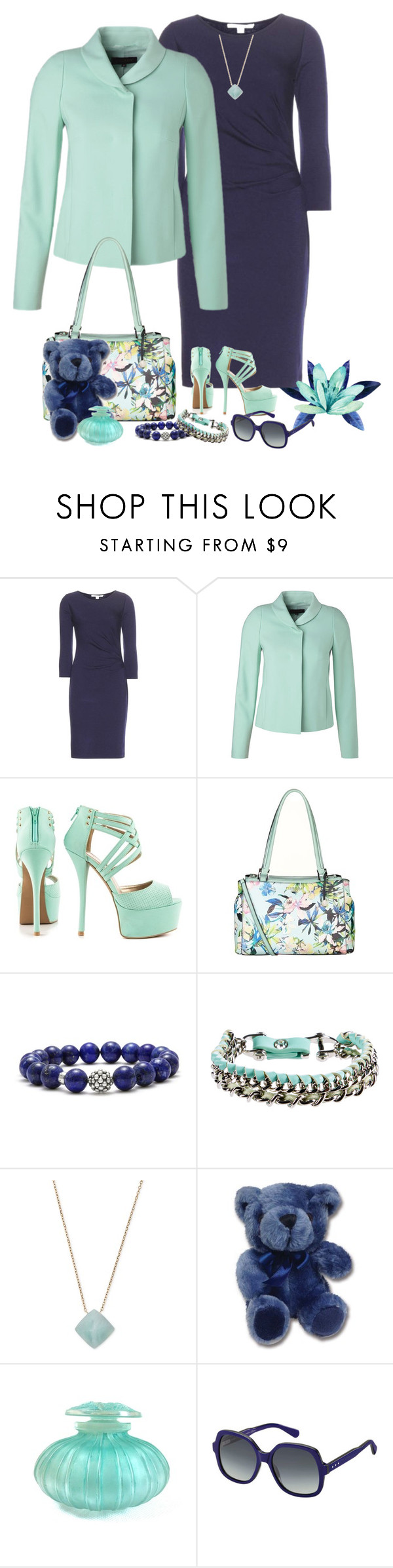 """""""Blue and Green"""" by lorrainekeenan ❤ liked on Polyvore featuring Diane Von Furstenberg, ESCADA, Qupid, Lipsy, Lagos, Michael Kors, Marc Jacobs, women's clothing, women and female"""