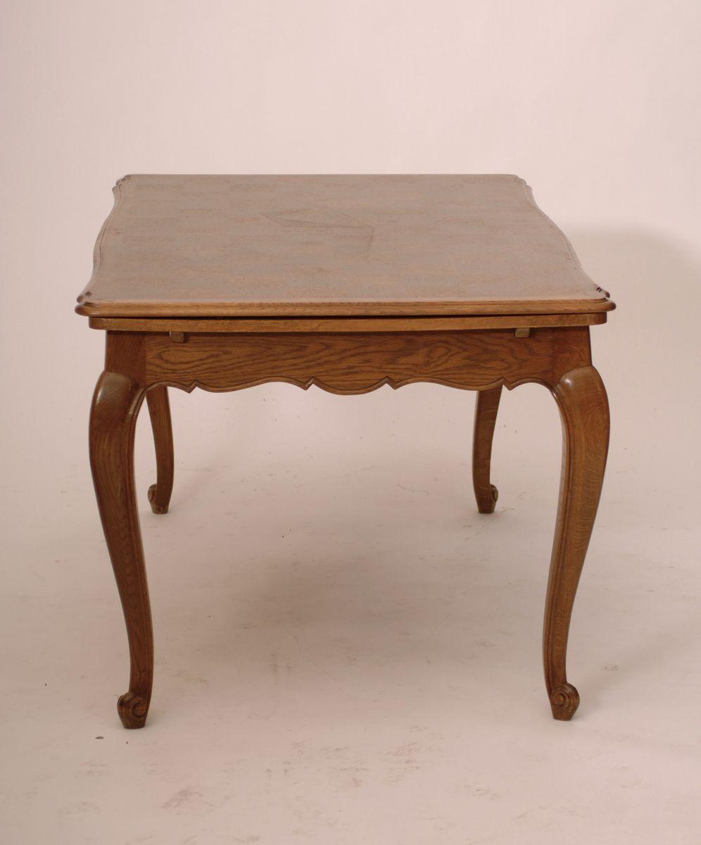 Antique Parquetry Top Pattern French Provincial Parquet Oak Dining - Vintage furniture san francisco