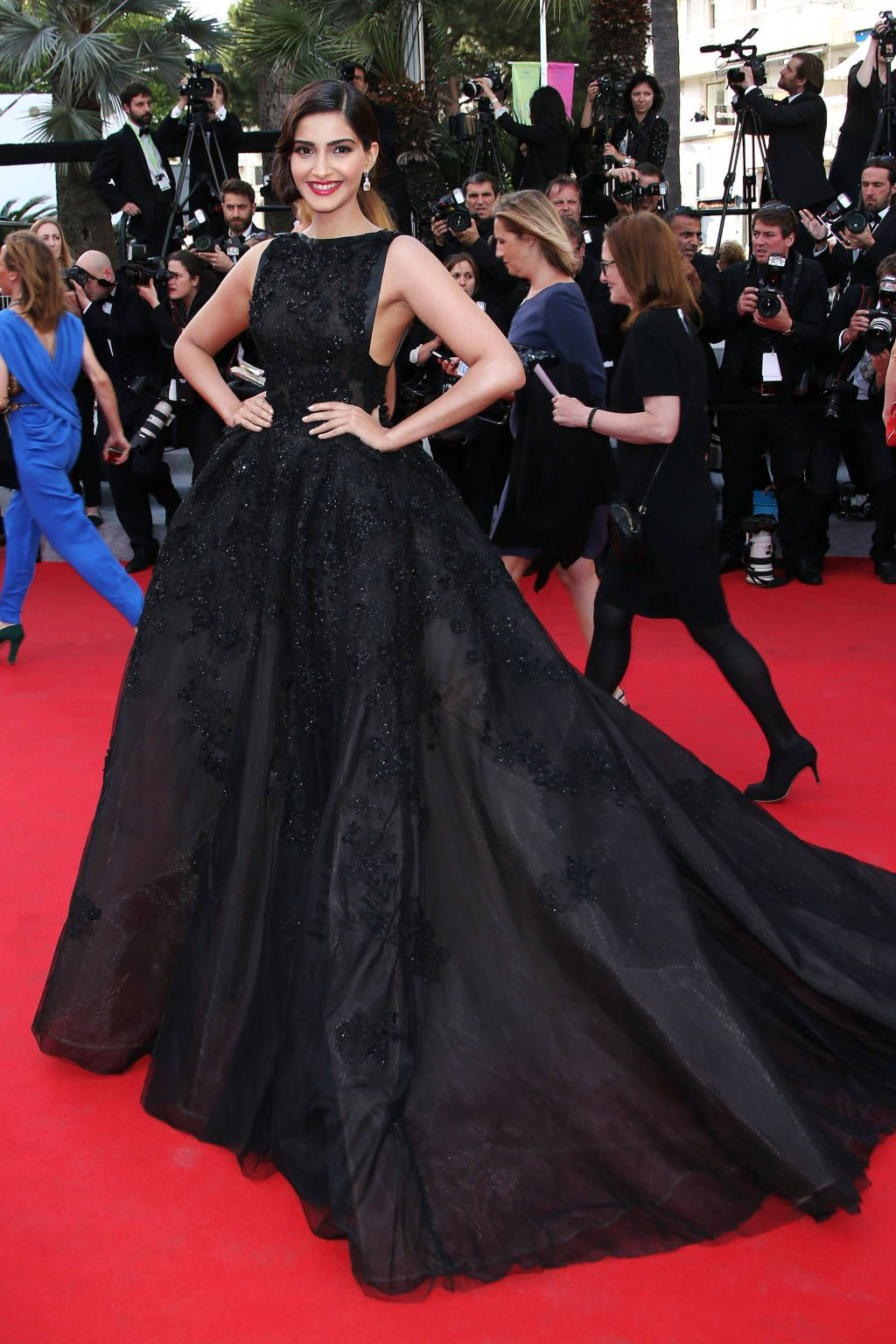 Sonam Kapoor in Elie Saab. Cannes Fashion - Red Carpet Dresses at Cannes  2014 - Harper s BAZAAR a92c18430