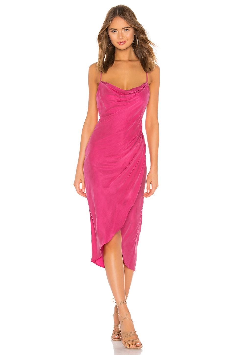 51b0ef91a355f Lovers + Friends Noah Wrap Dress in Hot Pink | Fashion: My Dream ...