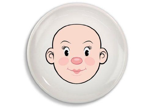 Fred and Friends MS FOOD FACE Kids Dinner Plate