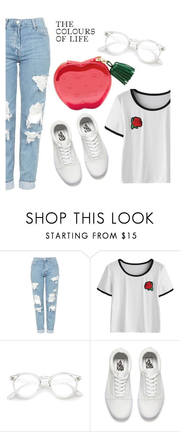 """""""Sweet"""" by yanglu2 ❤ liked on Polyvore featuring Topshop and Vans"""