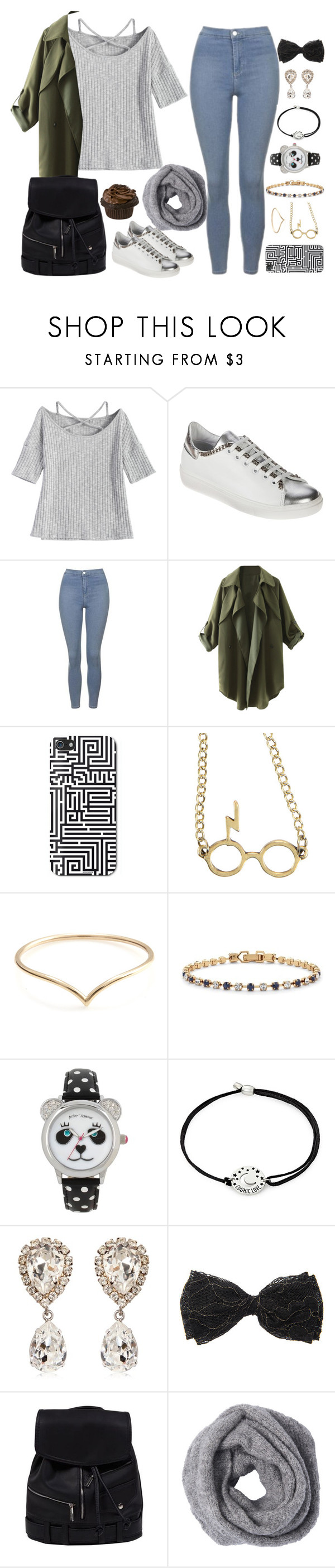 """let's walk // spring"" by cecilialukas ❤ liked on Polyvore featuring Topshop, ZENTS, Warner Bros., Palm Beach Jewelry, Betsey Johnson, Alex and Ani and Dolce&Gabbana"
