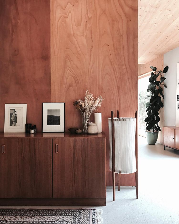 Wood Paneled Room Design: Natural Wood Panels On The Walls And Ceiling