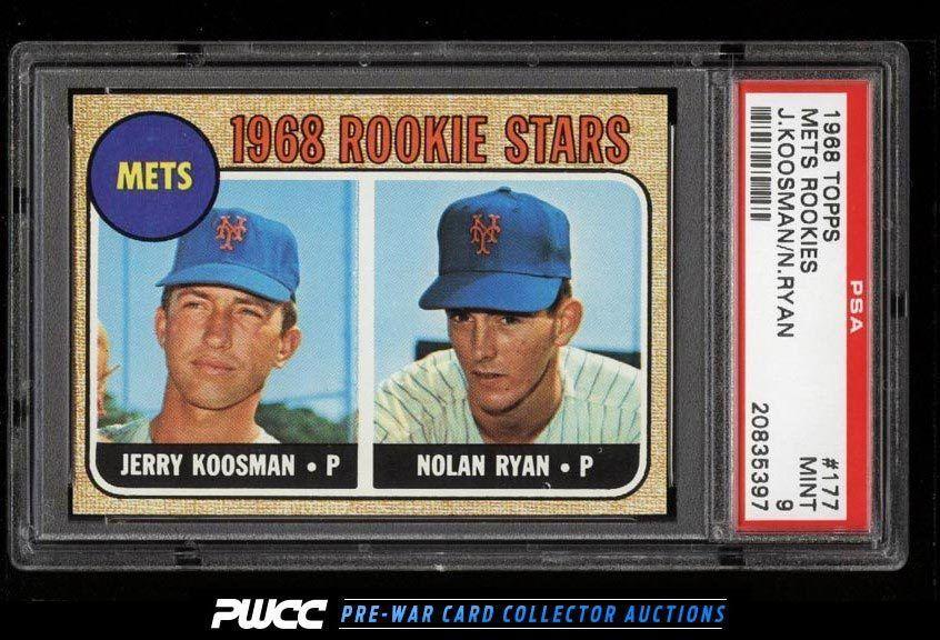 1968 Topps SETBREAK Nolan Ryan ROOKIE RC 177 PSA 9 MINT