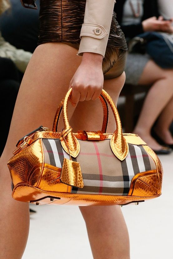 Burberry Plaid Metallic Handbag