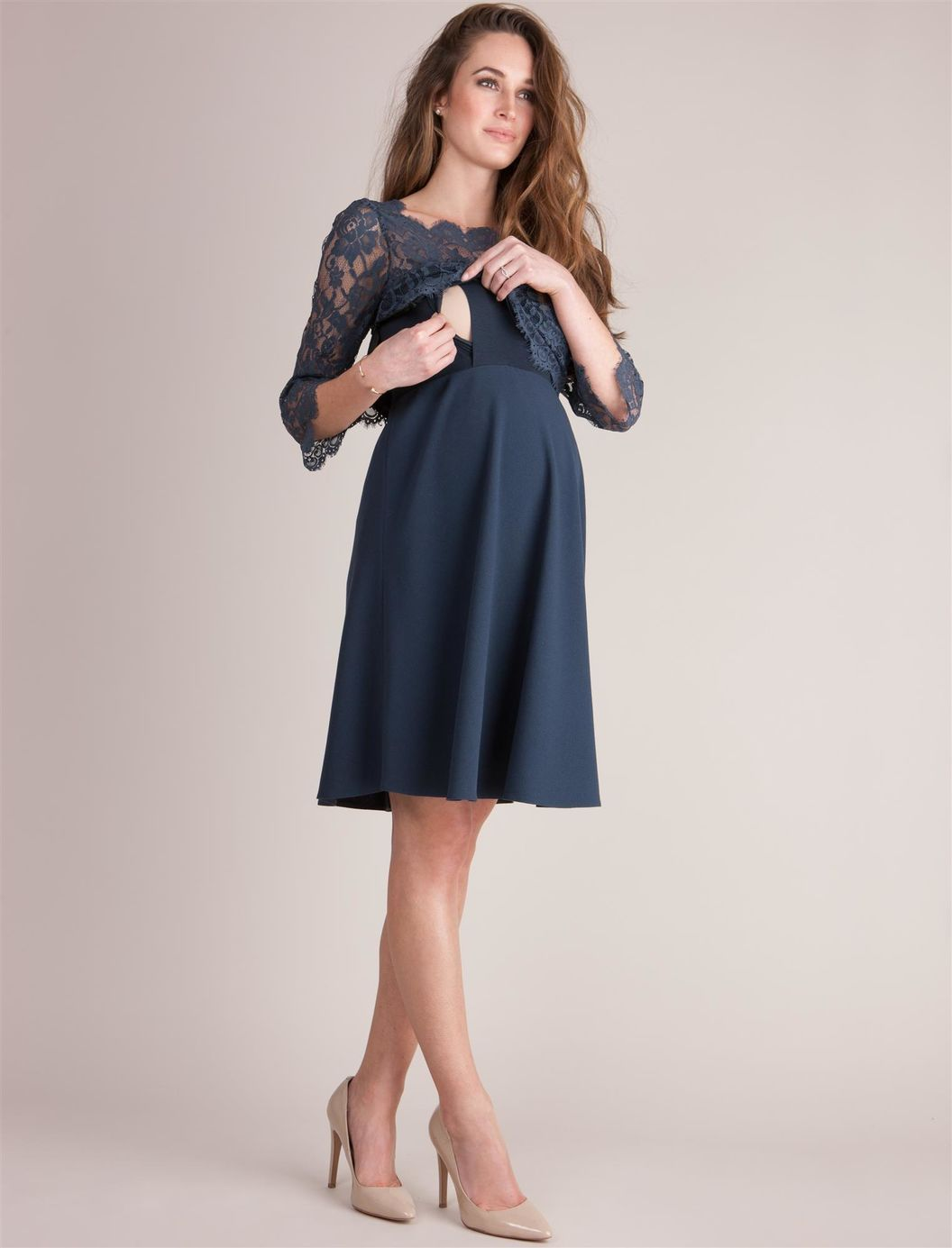 Web Only Seraphine Babydoll Maternity Dress, Navy | vestidos ...