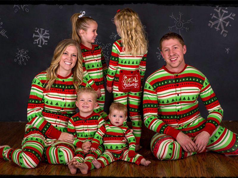 Cute Adult Kids Christmas Pyjamas Matching Family Pajamas