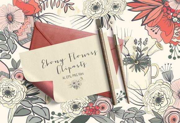 Ebony Flowers ~ Illustrations on Creative Market