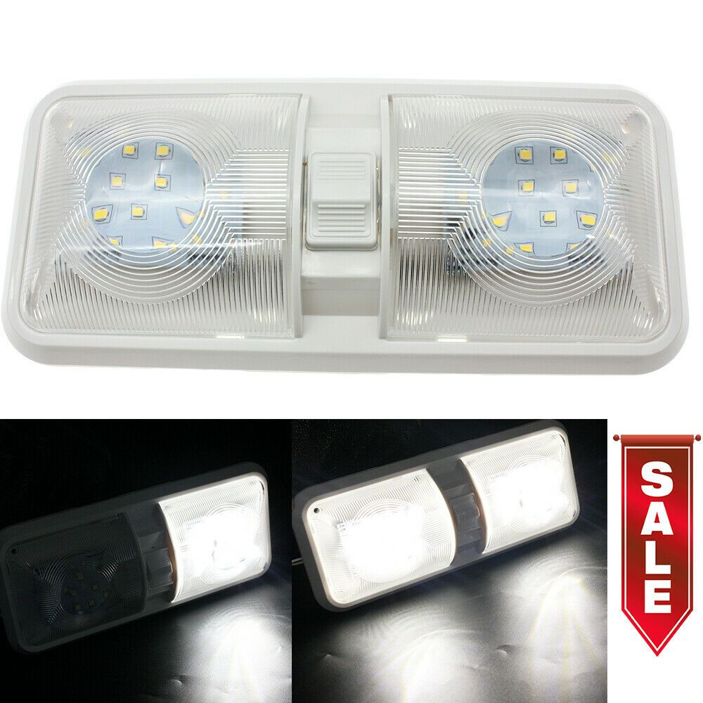 Sponsored Ebay 12v Led Rv Dual Dome Light Vehicle Interior Ceiling Lamp Lighting For Camping Us With Images Dome Lighting Led Ceiling Ceiling Domes