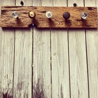 Lovely Idea For Coat Rack In The Kitchen (buy Door Knobs From Hobby Lobby And Find
