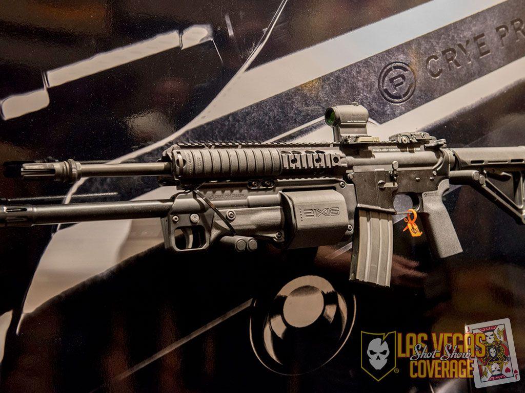 AR with an under barrel shotgun revolver for taser rounds