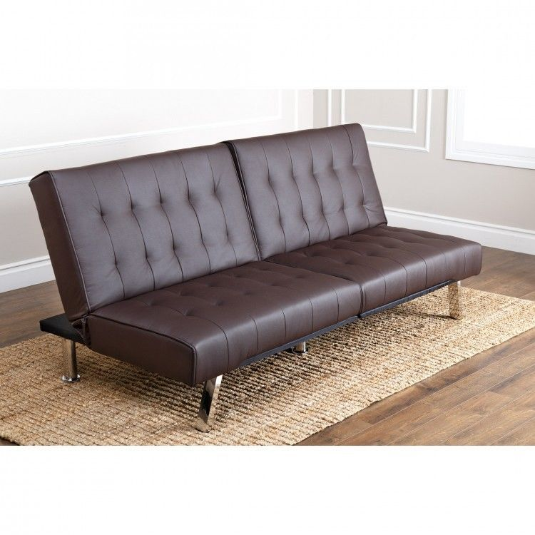 Astounding Faux Leather Futon Sofa Bed Folding Couch Convertible Short Links Chair Design For Home Short Linksinfo