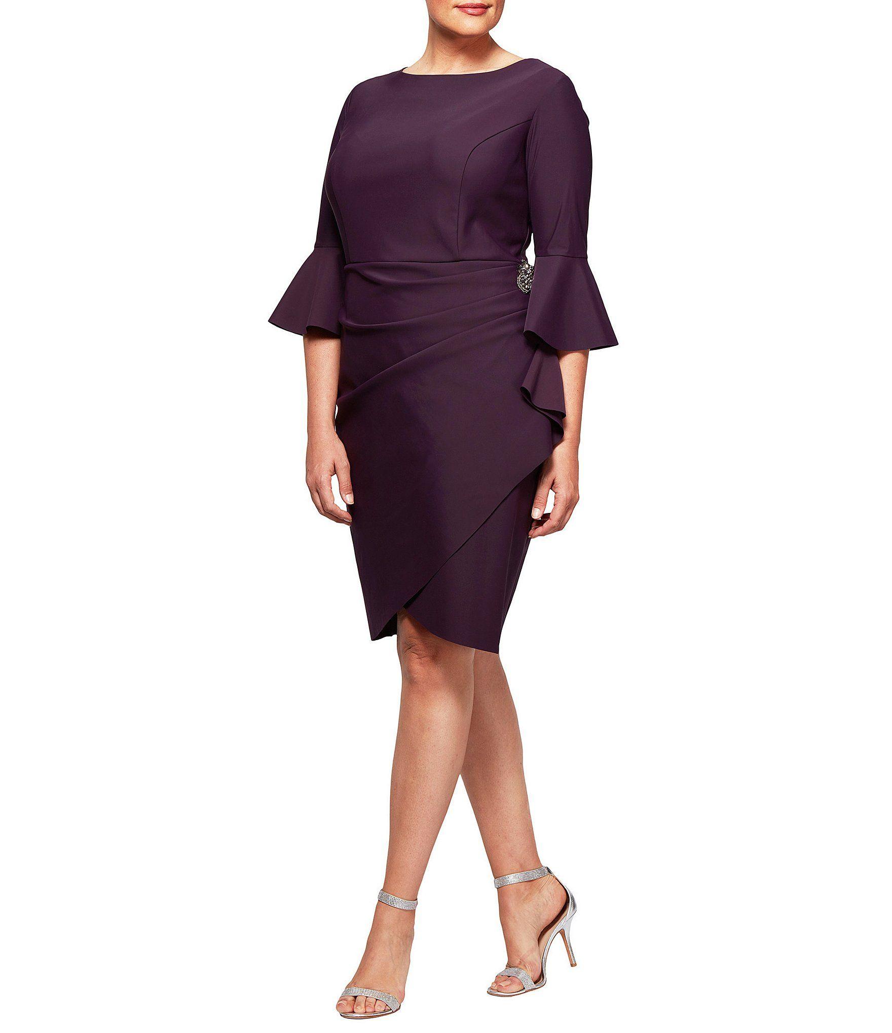 8c15799116b Alex Evenings Plus Bell Sleeve Sheath Dress  Dillards